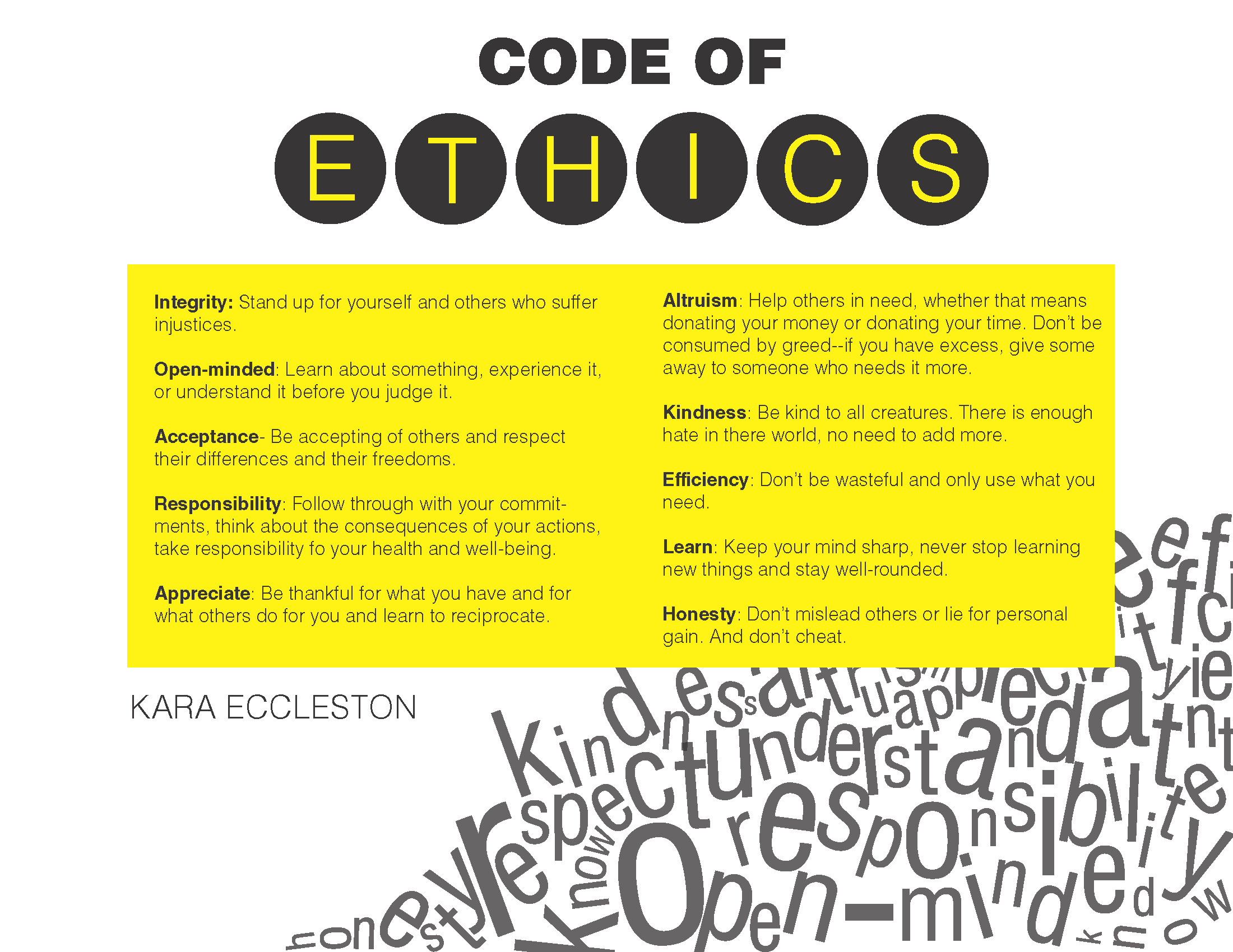 Personal code of ethics paper buy it now get free bonus for Code of conduct sample template